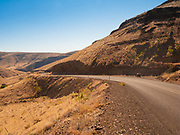 A view of Highway 216 between towards the Deschutes River Canyon in Wasco County Oregon