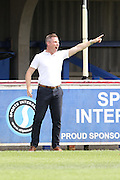 Neil Harris Millwall Manager Pre-Season Friendly match between AFC Wimbledon and Millwall at the Cherry Red Records Stadium, Kingston, England on 18 July 2015. Photo by Stuart Butcher.