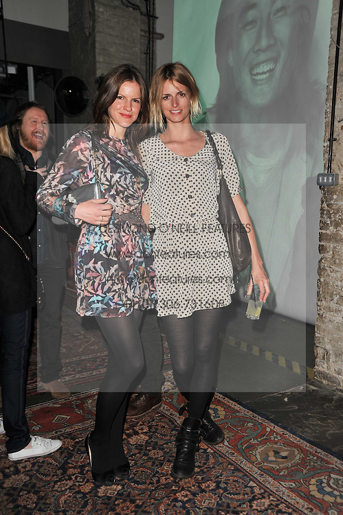Left to right, FUSCHIA SUMNER and JACQUETTA WHEELER at a party to celebrate the launch of the CLub Monaco brand at Browns held at the Royal Academy of Art, Piccadilly, London on 19th February 2011.
