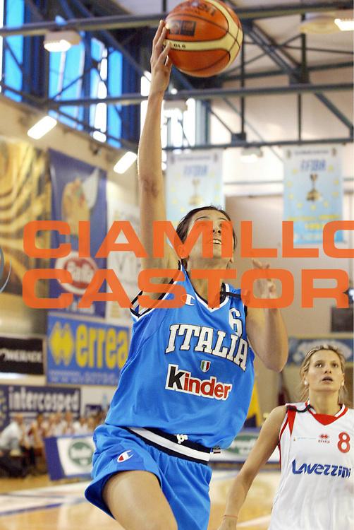 DESCRIZIONE : Parma Lega A1 Femminile 2005-06 All Star Game Italia Selezione Straniere <br /> GIOCATORE : Franchini <br /> SQUADRA : Italia <br /> EVENTO : Campionato Lega Femminile A1 2005-2006 All Star Game <br /> GARA : Italia Selezione Straniere <br /> DATA : 08/04/2006 <br /> CATEGORIA : Tiro <br /> SPORT : Pallacanestro <br /> AUTORE : Agenzia Ciamillo-Castoria/E.Pozzo<br /> Galleria : Lega Basket A1 2005-2006 <br /> Fotonotizia : Parma Campionato Italiano Femminile Lega A1 2005-2006 All Star Game Italia Selezione Straniere <br /> Predefinita :