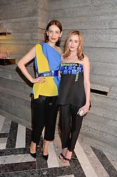 Left to right, ROKSANDA ILINCIC and LAURA CARMICHAEL at the opening of Roksanda - the new Mayfair Store for designer Roksanda Ilincic at 9 Mount Street, London on 10th June 2014.