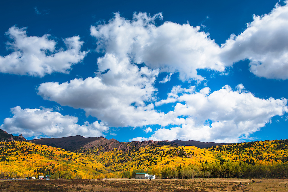 Pikes Peak Colorado during the fall