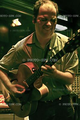 Florian Perfler performing the guitar.