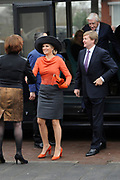 Streekbezoek van Koning Willem-Alexander en Koningin M&aacute;xima aan de Groningse en Drentse Veenkoloni&euml;n<br /> <br /> Visit of King Willem-Alexander and Queen Maxima at the Groningen and Drenthe peat.<br /> <br /> Op de foto / On the photo: Aankomst bij het Werkvoorzieningsbedrijf Wedeka . Wedeka werkt met mensen die een afstand hebben tot de arbeidsmarkt. / Arrival at Wedeka. Wedeka works with people who have a distance to the labor market.