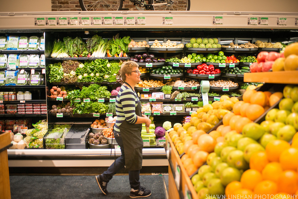 Lisa Sedlar on opening day of Green Zebra Grocery