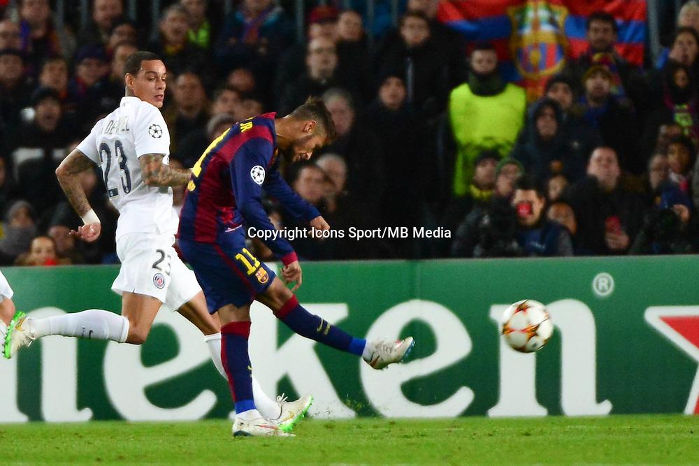 Goal NEYMAR - 10.12.2014 - Barcelone / Paris Saint Germain - Champions League<br />Photo : Dave Winter / Icon Sport