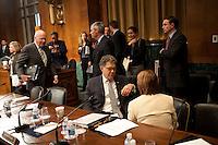 06 Oct 2011, Washington, DC, USA --- United States Senators relaxing after a Judiciary meeting --- Image by © Owen Franken/Corbis