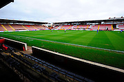 St James' Park stadium before the The FA Cup match between Exeter City and Port Vale at St James' Park, Exeter, England on 6 December 2015. Photo by Graham Hunt.