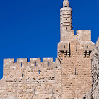 The David tower in the old city of Jerusalem