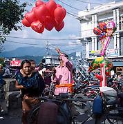 Tudi Khel Bazar, Pokhara, Nepal. Desain Festival days.