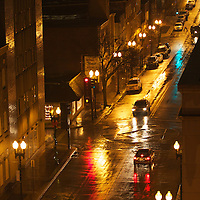 Rain on Gay Street in downtown Knoxville, Tn.