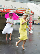 31/07/2015  Joanne Murphy and Elaine Kelleher from Kerry at the Friday evening meeting of the Galway Races Photo:Andrew Downes
