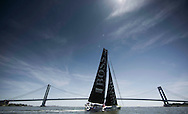 IMOCA Ocean Masters. New York - Barcelona Race start. Pictures Hugo Boss skippered by Pepe Ribes (ESP) &amp; Ryan Breymaier (USA)<br />  Credit: Mark Lloyd/Lloyd Images