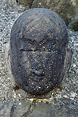 Sekibutsu statue faces