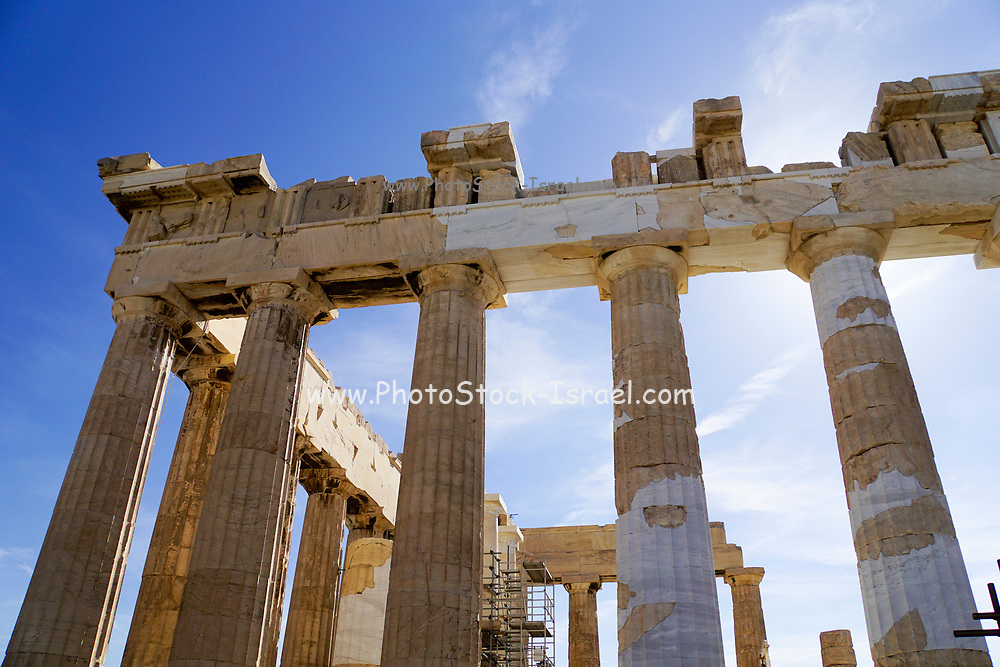 The Propylaia (main entrance), Acropolis, Athens, Greece, UNESCO word heritage site
