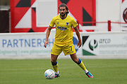 AFC Wimbledon defender George Francomb (7) dribbling during the Pre-Season Friendly match between Ebbsfleet and AFC Wimbledon at Stonebridge Road, Ebsfleet, United Kingdom on 29 July 2017. Photo by Matthew Redman.