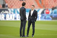 Adrien Rabiot / Lucas Digne - 08.04.2015 - Paris Saint Germain / Saint Etienne - 1/2Finale Coupe de France<br />Photo : Andre Ferreira / Icon Sport