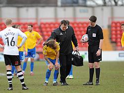 Bristol Rovers' Stuart Sinclair - Photo mandatory by-line: Neil Brookman/JMP - Mobile: 07966 386802 - 28/02/2015 - SPORT - Football - Gateshead - Gateshead International Stadium - Gateshead v Bristol Rovers - Vanarama Football Conference