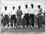 The Kibra Golf Team vs the Kenya Golf Team.  The Royal Nairobi Golf Course was a significant Nubian sports ground.  (1961)