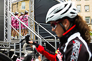Edinburgh, UK, 29th May 2014. Pearl Izumi Tour Series, Round 6. The aim for teams is to place three of their riders as high up the finishing order as possible and record the lowest cumulative points. The tour consists of ten venues across the UK each year.