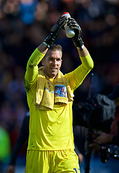SHEFFIELD, ENGLAND - Thursday, September 26, 2019: Liverpool's goalkeeper Adrián San Miguel del Castillo celebrates after the FA Premier League match between Sheffield United FC and Liverpool FC at Bramall Lane. Liverpool won 1-0. (Pic by David Rawcliffe/Propaganda)