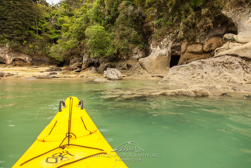 Kayaking along Abel Tasman National Park, New Zealand