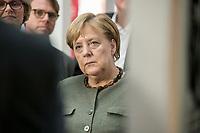 14 NOV 2018, POTSDAM/GERMANY:<br /> Angela Merkel, CDU, Bundeskanzlerin, waehrend einer Praesentation des HPI im Rahmen der Klausurtagung des Bundeskabinetts, Hasso Plattner Institut (HPI), Potsdam-Babelsberg<br /> IMAGE: 20181114-01-080<br /> KEYWORDS; Kabinett, Klausur, Tagung