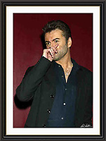 George Michael atlantic Bar London 05/05/2004 A3 Museum-quality Archival signed Framed Print (Limited Edition of 25)