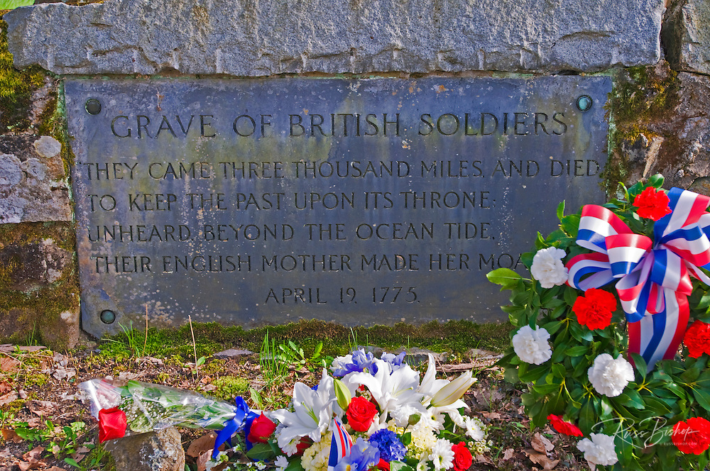 Grave of the British soldiers on the Old North Bridge, Minute Man National Historic Park, Massachusetts