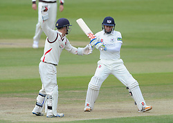 Geraint Jones of Gloucestershire moves out of the way from the ball - Photo mandatory by-line: Dougie Allward/JMP - Mobile: 07966 386802 - 08/06/2015 - SPORT - Football - Bristol - County Ground - Gloucestershire Cricket v Lancashire Cricket Day 2 - LV= County Championship