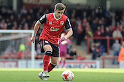 Morecambe Defender Aaron MCGowen during the EFL Sky Bet League 2 match between Morecambe and Carlisle United at the Globe Arena, Morecambe, England on 8 October 2016. Photo by Pete Burns.