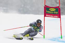 Greg Galeotti of France during 1st run of Men's Giant Slalom race of FIS Alpine Ski World Cup 57th Vitranc Cup 2018, on 3.3.2018 in Podkoren, Kranjska gora, Slovenia. Photo by Urban Meglič / Sportida