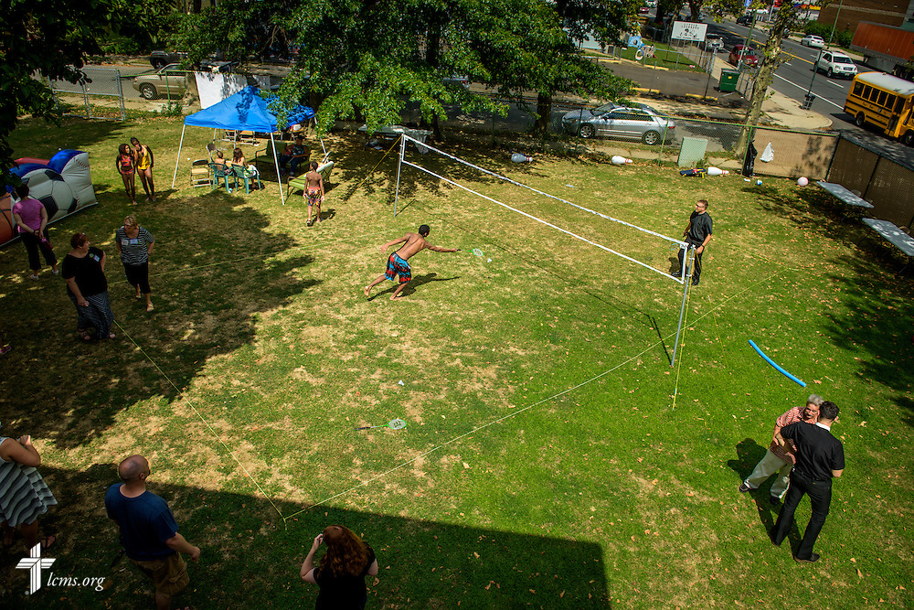 A pickup game of Badminton during the domestic Mercy Medical Team on Friday, Aug. 26, 2016, at Shepherd of the City Lutheran Church in Philadelphia. LCMS Communications/Erik M. Lunsford