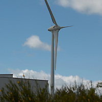 Large wind turbines in close proximity with house and hurban life Rotor diameter size aprox 65mt