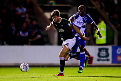 Will Aimson of Plymouth Argyle challenges Victor Adeboyejo of Bristol Rovers - Mandatory by-line: Ryan Hiscott/JMP - 03/09/2019 - FOOTBALL - Home Park - Plymouth, England - Plymouth Argyle v Bristol Rovers - Leasing.com Trophy