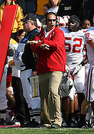 18 OCTOBER 2008: Wisconsin defensive coordinator Dave Doeren in the first half of an NCAA college football game against Wisconsin, at Kinnick Stadium in Iowa City, Iowa on Saturday Oct. 18, 2008. Iowa won 38-16.