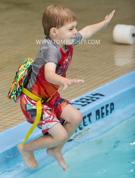 Middletown, New York - Swimming lessons at the YMCA of Middletown on Nov. 4, 2014.