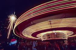 North America, United States, Washington, Seattle, holiday carousel in Westlake Park