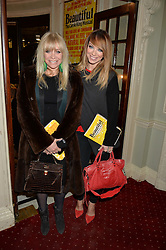 Left to right, JO WOOD and LIZ McCLARNON at Beautiful - The Carole King Musical 1st Birthday celebration evening at The Aldwych Theatre, London on 23rd February 2016.