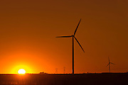Wind turbines at sunset<br /> Somerset<br /> <br /> Canada