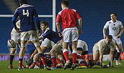 France Anthony Meric passes during the Under 20s Six Nations Championship match between England and France at the American Express Community Stadium, Brighton and Hove, England on 20 March 2015. Photo by Phil Duncan.