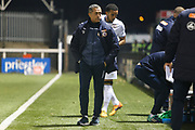 Neil Smith before the The FA Cup match between Bromley and Bristol Rovers at the Westminster Waste Stadium, Bromley, United Kingdom on 19 November 2019.