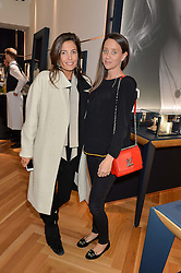 Left to right, AMANDA SHEPPARD and INDIA LANGTON at a party to celebrate the launch of the APM Monaco Flagship Store at 3 South Molton Street, London on 11th February 2016