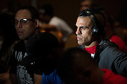 "Vitor ""The Phenom"" Belfort sits backstage before the official UFC 187 weigh-in event at the MGM Grand in Las Vegas, Nevada on May 22, 2015. (Cooper Neill)"