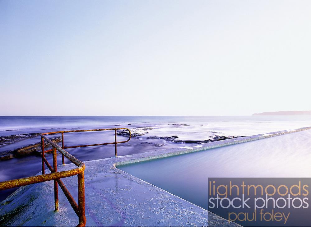 The rusty rails, Merewether Ocean Baths, East Coast, Australia