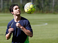 FODBOLD: Martin Frandsen under træningen hos FC Helsingør den 4. juli 2017.. Foto: Claus Birch