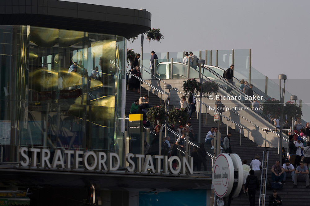 Stratford mainline station, the destination hub for arriving London 2012 Olympic passengers and commuters.