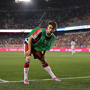 Lucas Scholl, Bayern Munich, warming up during the FC Bayern Munich vs Chivas Guadalajara, friendly football match at Red Bull Arena, New Jersey, USA. 31st July 2014. Photo Tim Clayton