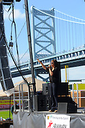 Patty Smyth and Scandal perform at Hungerstock October 1, 2011 at Rivershark Stadium in Camden, New Jersey. The Food Bank of South Jersey held the event to raise money to feed hungry families in New Jersey. (Photo by William Thomas Cain/cainimages.com)