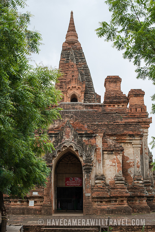 The front entrance of Gu-byauk-gyi Temple in Nyaung-U, Myanmar (Burma).
